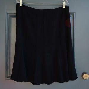 Basic Black Skirt w/Wide Pleats by Talbots Petite